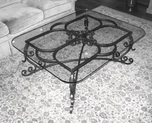 Coffee table.  Mild steel.  Natural finish.  Private residence, Waukesha, WI.