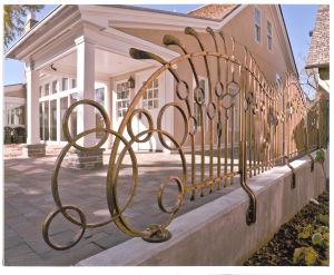 "Bronze Railing.  ""Lynden Sculpture Garden"", Milwaukee, WI"