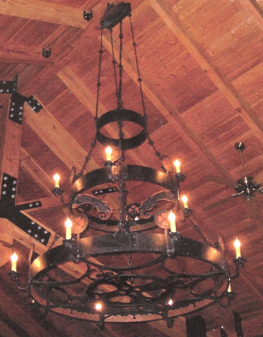 Chandelier. Mild steel and copper. Natural finish.  Bjorklunden Lodge  & Forged Lighting and Candlesticks by Dan Nauman « Bighorn Forgeu0027s ... azcodes.com