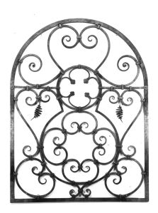 Garden Gate.  Mild steel.  Natural finish.  Artist's collection.