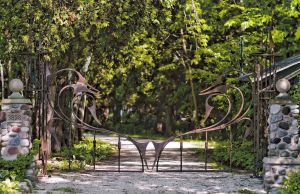 Driveway Gate.  Mild steel.  Painted finish.  Port Washington, WI.