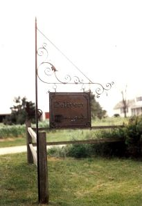Deleivery Sign.  Mild steel.  Before finish was applied.  Made for a private estate in Sister Bay, WI.