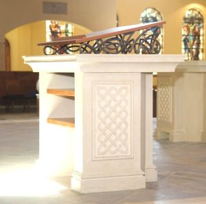 Ambo Bookrest for St. Patrick's Catholic Church.