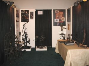 "Bighorn Forge's display at the ""Harley-Davidson Museum"" during the ""Fine Furnsishings Show"" 2014."