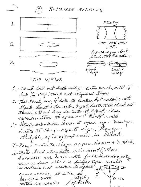 Hersom's Written Hammer Designs 1A