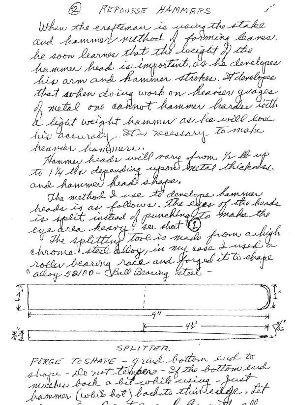 Hersom's Written Hammer Designs 2A