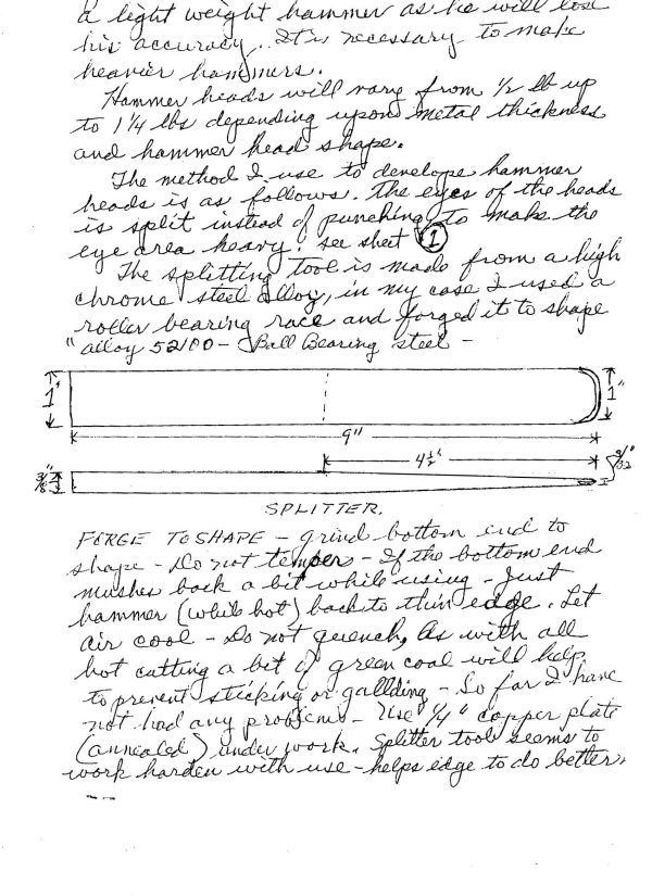 Hersom's Written Hammer Designs 2B
