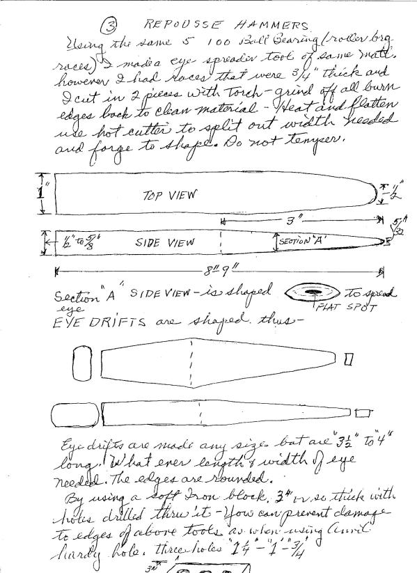 Hersom's Written Hammer Designs 3A