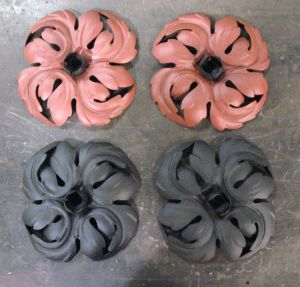 Compound rosettes, eight total sets.